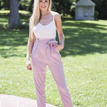 Emery Jumpsuit, Dusty Pink
