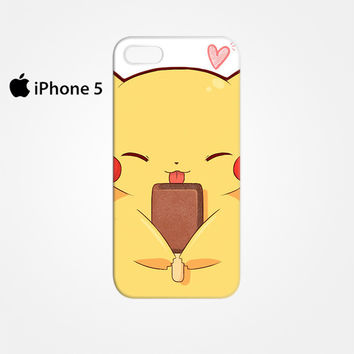 Pikachu and Popsicle Ice Cream for Iphone 4 4S Iphone 5 5S 5C Ip 3065ef955605