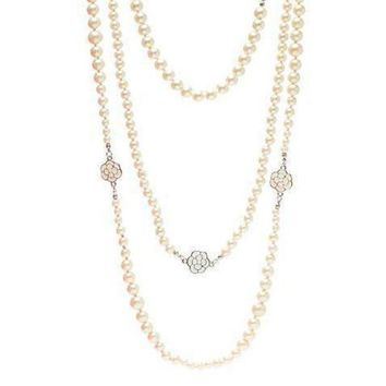 DCCKNQ2 Chanel Woman Fashion Logo Pearls Necklace For Best Gift-10