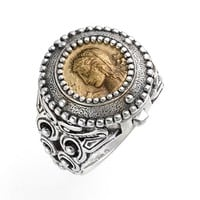 Women's Konstantino 'Arethusa' Hinged Coin Ring - Silver/ Bronze