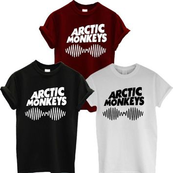 ARCTIC MONKEYS TSHIRT NEW ALBUM WOMENS MENS ROCK TEE T SHIRT MUSIC SWAG More Size and Colors