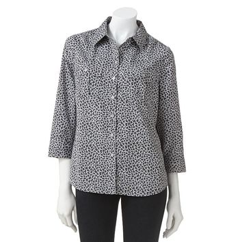 Croft & Barrow Printed Crepe Shirt