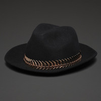 Felt Cowboy Hat with Fish Scale Band