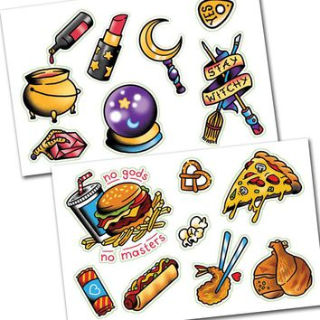 Witches N' Food Sticker Set