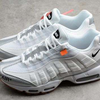 OFF White x MAX 95 OW 609048-109 White Silver Sport Shoes - Best Online Sale