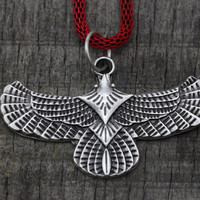 Eagle, wings Indians Necklace silver-plated, Bohemian Jewelry -Tribal jewelry ethnic jewelry