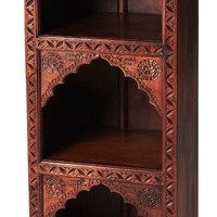 Mihrab Traditional Bookcase Medium Brown