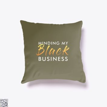 Mmbb White And Gold, Black Mirror Throw Pillow Cover