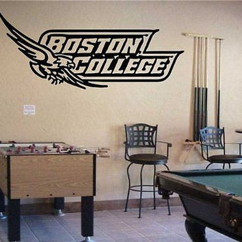 Boston College Eagles NCAA Logo Emblem Wall Art Sticker Decal (S090)
