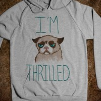 Grumpy Cat: I'm Thrilled (hoody) - Out There Tees
