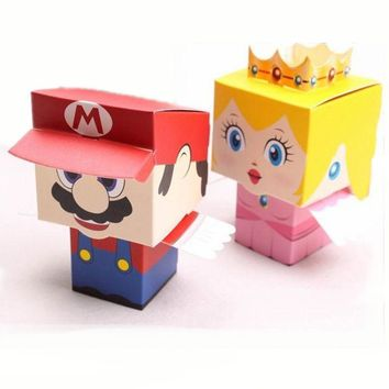 Super Mario party nes switch 50pcs/lot Cartoon Super Marie Bros Princess Bride and Groom Wedding Favors  Candy Box Wedding Gifts Baby Shower Favors AT_80_8