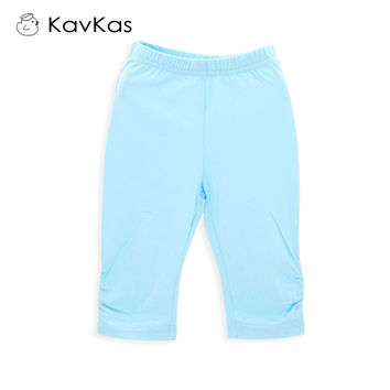 Kavkas Baby Girl Pants Pure Color Baby Calf-Length Leggings Newborn Baby Girl Clothing 6m-4t