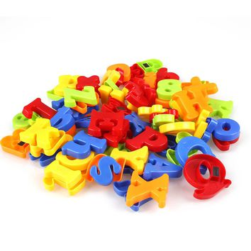 78Pcs Magnetic Alphabet Letter Maths Number Symbol Fridge Magnets Set In Jar