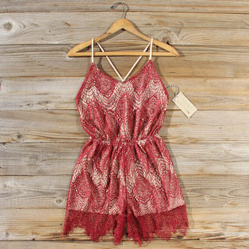 Midnight Lace Party Romper