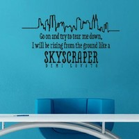 Skyscraper Demi Lovato Vinyl Wall Decal