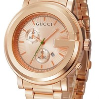 GUCCI steel trendy fashion watch F-YF-GZYFBY rose gold