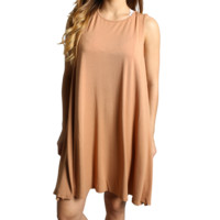 Iced Coffee Piko Tank Dress