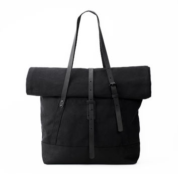 The Rolltop Tote | Black