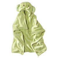 Tiddliwinks Green Elephant Hooded Blanket