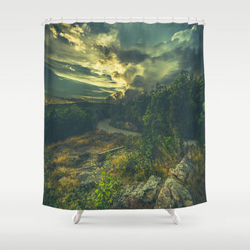 Road to oblivion Shower Curtain by HappyMelvin