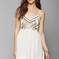 Ecote Rowan Embellished Fit & Flare Dress - Urban Outfitters