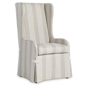 Fisher Wingback Armchair, Gray/White, Side Chairs