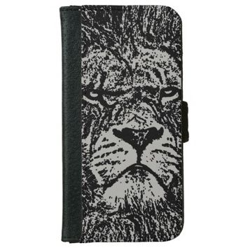 lion wallet phone case for iPhone 6/6s