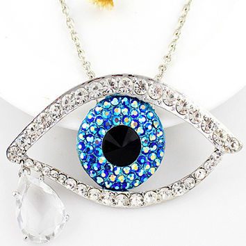 Blue Eye Teardrop Necklace