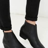 Alert and Aware Black Pointed Toe Booties