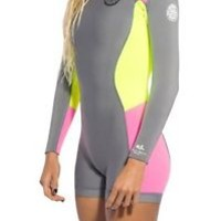 Rip Curl Dawn Patrol Women's 2mm Long Sleeve Springsuit Grey Spring Wetsuit