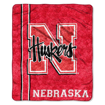 Nebraska Cornhuskers NCAA Sherpa Throw (Jersey Series) (50in x 60in)
