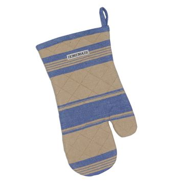 Blue French Stripe Oven Mitt 2 Sets of 2