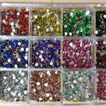 Approx. 15,000 3mm Rhinestones w/case, DIY,deco,cell phone,BLING,Nail Art
