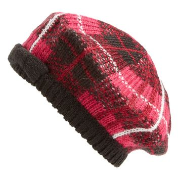 kate spade new york 'woodland plaid' beret | Nordstrom