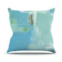 "CarolLynn Tice ""Announced"" Aqua Green Throw Pillow"