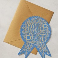 Rifle Paper Co. You're The Best Card in Blue Size: One Size Gifts