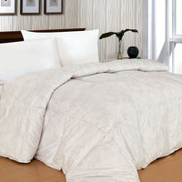 300 Thread Count Paisley White Alternative Down Comforter