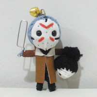Jason voorhees String doll Voodoo doll keychain/ FREE Shipping
