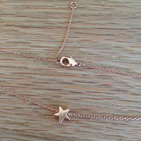 The Little Rose Gold Star Necklace - Perfect Valentines Gift - Complete with Valentines Gift Wrap