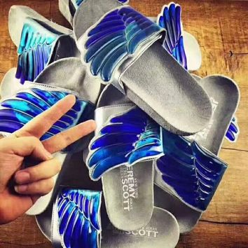 Adidas Originals Js Gel Wings Adilette Slippers Summer Fashion Casual Slippers Sandals F-CSXY