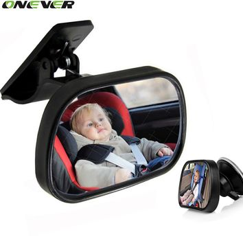 1Pcs Mini Car Back Seat Baby View Mirror 2 in 1Rear Convex Mirror Adjustable Monitor Reverse Safety
