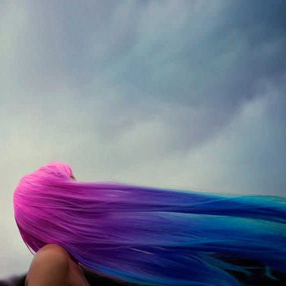 """The ULTIMATE Rainbow Ombre Mermaid Hair Extensions // 24"""" FULL Head  // Clip-In // Human Hair"""