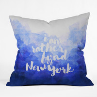 Hello Sayang I Am Rather Fond of New York Outdoor Throw Pillow