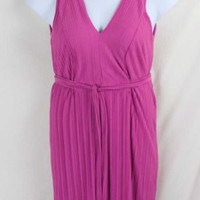 Pink Dana Buchman Dress size S Womens Soft Easy Wear Tie Waist Vacation Cruise