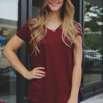 Three Day Weekend Top - Burgundy