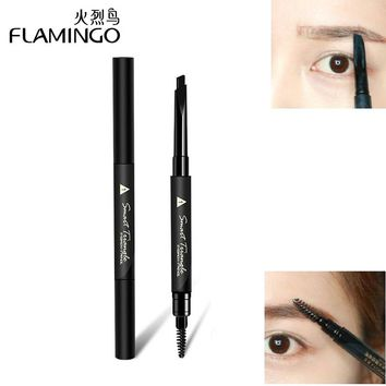 Flamingo Natural Multifunctional Double-Edged Long Lasting Easy to Wear Triangle Head Shape Automatic Eyebrow Pencil B1031