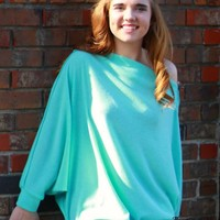 Entro Aqua Off Shoulder Top