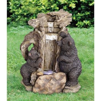 SheilaShrubs.com: Bear Butte Waterfall Sculptural Fountain SS12352 by Design Toscano: Garden Fountains
