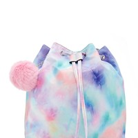 Pom Pom Tie-Dye Backpack