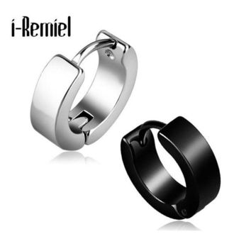 ac spbest Anti-allergic titanium steel buckle tide Korean fashion stainless steel earring punk male and female buckle